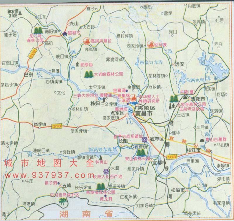 宜昌市地图_国内旅游地图_湖北省宜昌市地图