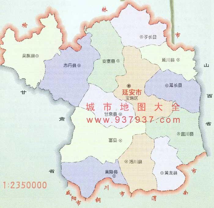 延安市区地图内容|延安市区地图版面设计