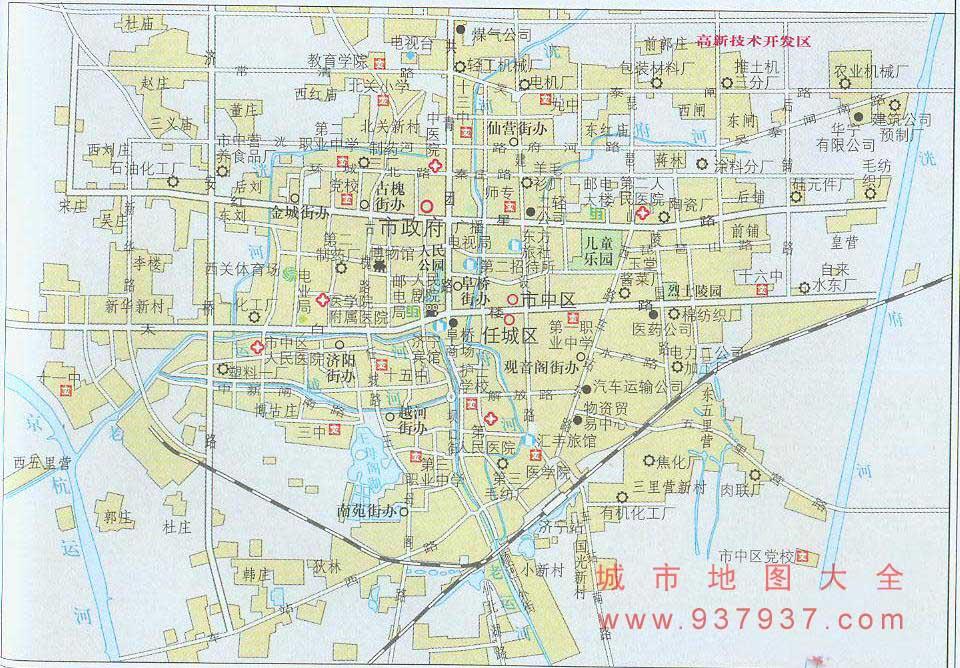 山东济宁地图 高清