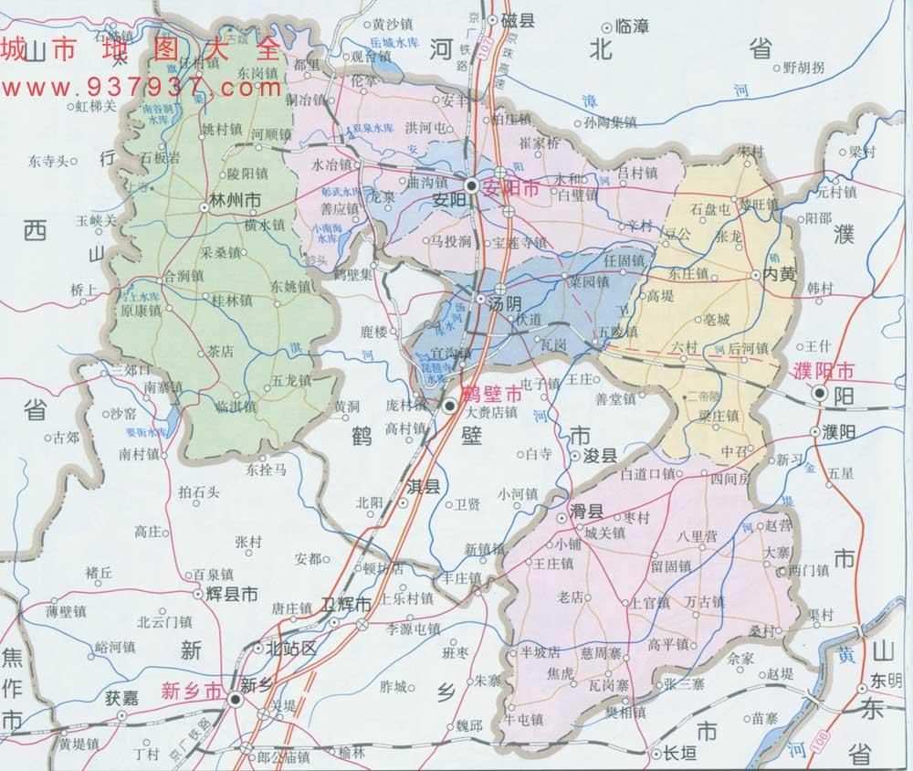 河南省安阳市地图