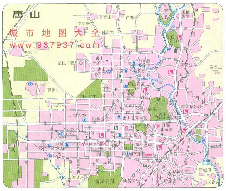 唐山市区地图